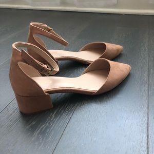 Aldo nude block heels